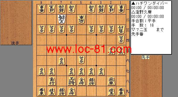 ハチワンダイバーと澄野久摩の賭け将棋