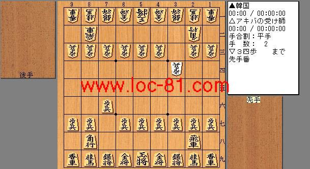 韓国とアキバの受け師の将棋